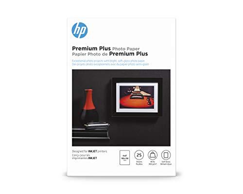 HP Premium Plus Photo Paper | Soft Gloss | 4x6 | 25 Sheets (4WN02A)