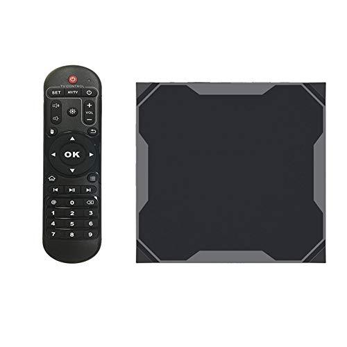 MXXQQ Caja De TV Android 9.0, 4GB RAM 32GB ROM AMLOGIC S905X3 Quad Core Smart TV Box, 2.4 G / 5.0G Dual WiFi / 8K BT H.265 8K 24FPS Player Video,4GB+64GB