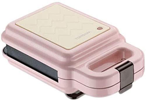 Mini Gaufrier multifonction Petit déjeuner machine for faire Sandwich Gaufres Pain, double face chauffage, 600W, Rose (Couleur: Rose) liuchang20 liuchang20
