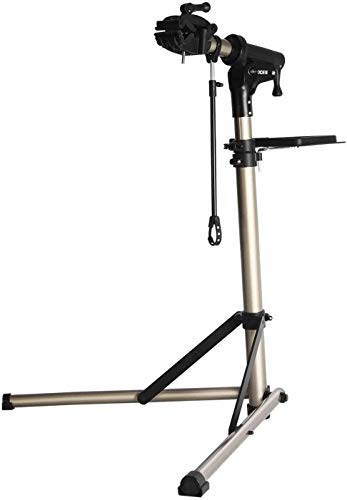 CXWXC Bike Repair Stand -Shop Home Bicycle Mechanic Maintenance Rack- Whole Aluminum Alloy- Height Adjustable (rs100) (A: Champagne)