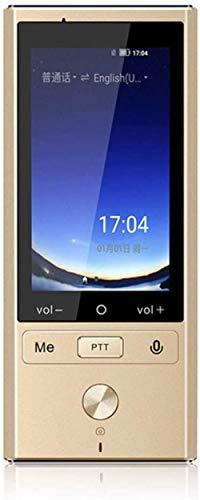 106 Languages Real Time Translation Smart Offline Voice Translator WiFi+4G Multilingual Translator Travel Overseas Translator Gold-Gold