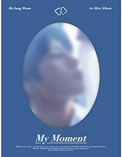 Wanna One Ha Sung Woon - [My Moment] 1st Mini Daily CD+PhotoBook+1p Card+1p Bookmark+Tracking K-POP Sealed