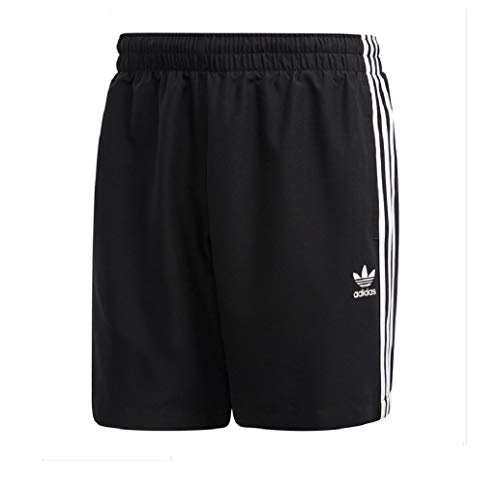 Adidas 3 Stripes Swimshorts Boardshorts Shorts (L, Black/White)