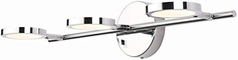 TopDeng LED 3 leuchten Wandbeleuchtung Bad Einfach Spiegel lampe, Wasserdicht Make-up Beleuchtung Wandleuchte Edelstahl Anti-fog Schminklicht-Neutrales Licht 54cm