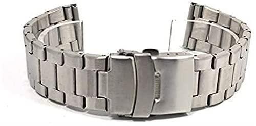 chenghuax Reloj Correas, Banda de Acero Inoxidable 20 mm 22 mm Negro...