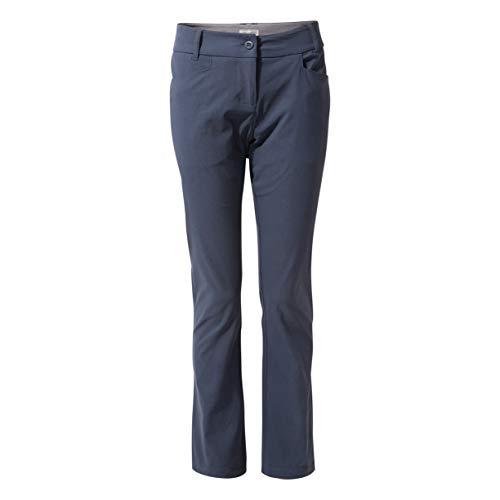 Craghoppers Kiwi Pro Pantalon Court pour Femme, Femme, CWJ1202S 3G314L, Bleu Marine, Size 14 Short(Leg)