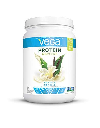 Vega Protein & Greens Vanilla (18 servings, 1.16 lb) - Plant Based Protein Powder, Keto-Friendly, Gluten Free, Non Dairy, Vegan, Non Soy, Non GMO