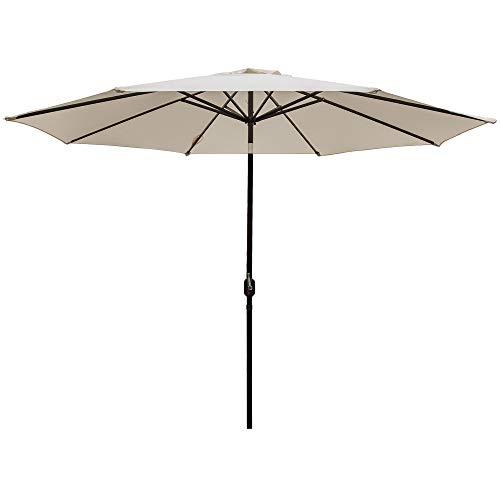 DOIFUN 11ft Patio Umbrella Outdoor with Push Button Tilt and Crank for Garden, Lawn, Deck, Backyard & Pool, Beige