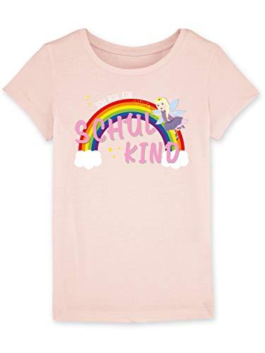 Shirtracer Einschulung und Schulanfang - Ich Bin EIN Schulkind Prinzessin - Mädchen T-Shirt (7-8 Jahre 122-128 cm, rosa meliert)