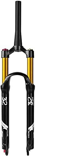YLXD 26 27.5 29 Pollici 100mm di Escursione, 1-1 8  Diritta conica MTB Forcella Anteriore Forcella per Mountain Bike Regolazione Estensione Freno a Disco QR 9mm C,27.5