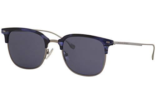 Hugo Boss 1028FS 1028/F/S 381KU - Gafas de sol cuadradas de titanio para hombre, 53 mm