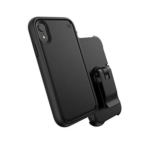 Speck Products Presidio Ultra iPhone XR Case, Black/Black/Black