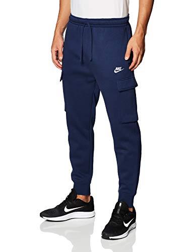 Nike Herren M NSW Club Pant Cargo BB Hose, Midnight Navy/Midnight Navy/White, L