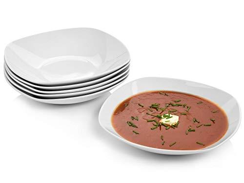Sänger Suppenteller 'Bilgola' aus Porzellan 6 teilig - Für 6 Personen - Ein modernes Dinnerset für stilbewusste Geniesser