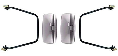 2x buitenspiegel achteruitkijkspiegel 390x195 vrachtwagen bus bagger spiegelarm spiegelhouder set
