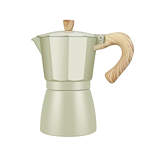GZA Fabricante De Café Aluminio Mocha Mocha Espresso Percolador Pot Cafetera Moka Pot Stovetop CoffeeFeer Fabricante para La Cocina (Color : 300ml)