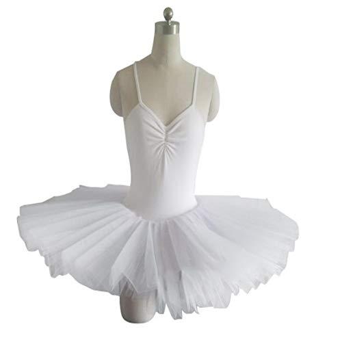 Zhao Li Professionelle Ballett Rock Erwachsene Rock Pettiskirt Tutu Rock Herbst und Winter Praxis Kleidung White Swan Lake Kinder Kostüme/White (Color : White, Size : XXL)