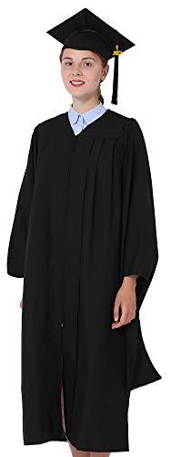 GraduationMall Unisex Economy Master Graduation Gown Cap 2021 Tassel Package Black Small 45(5'0'-5'2')
