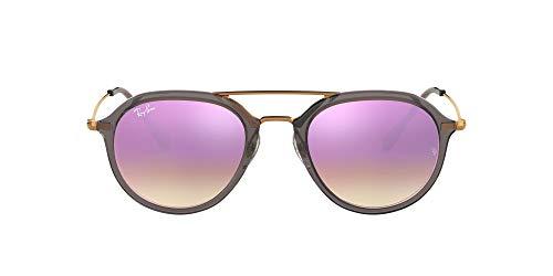 Ray-Ban Rb4253 Gafas de sol, Gris/Bronce-Cobre/Lila Degradada (Shiny Grey), 53 Unisex-Adulto