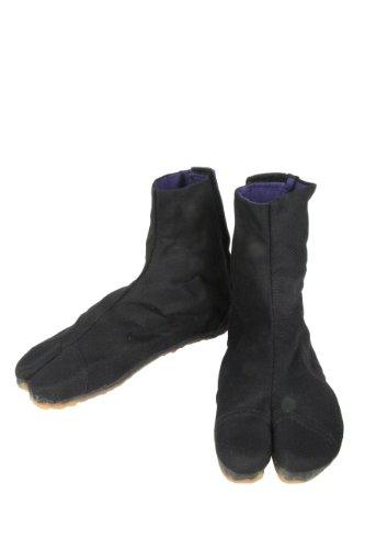 [日進ゴム] 作業靴 祭りたび 2型 マジックテープ留め 吸圧スポンジ内蔵 キッズ ブラック 20.0 cm