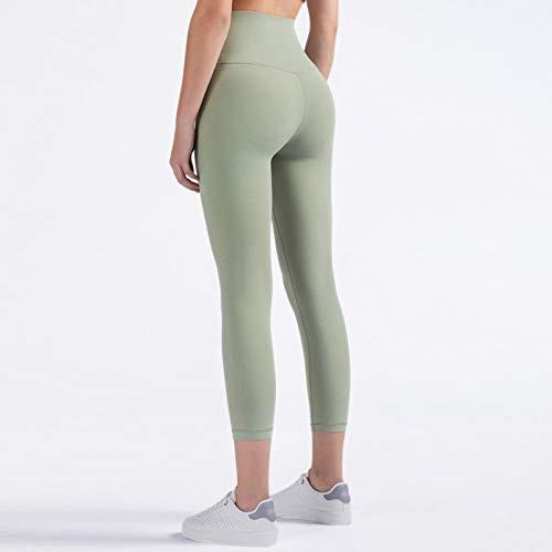 B/H Minceur Lounge Pantalon Yoga Pantalon,Pantalon de Yoga en Nylon Extensible à l'épreuve du Squat,Leggings de Fitness Taille Haute-Palm_Court_M,Pantalon Sport Femme Decontracté Yoga Longue Pants