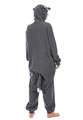 Pijamas de Animales de Una Pieza Unisexo Adulto Traje de Dormir Cosplay Disfraz Lobo,LTY33,2,L