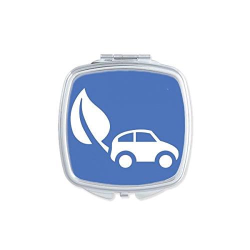 DIYthinker Feuille d'énergie Véhicules Protéger l'environnement Motif carré Miroir de Maquillage Compact Portable Mignon Miroirs de Poche à la Main cad Multicolore
