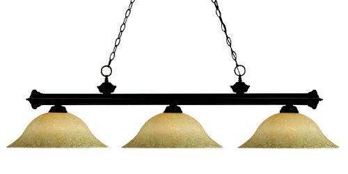 Big Sale Best Cheap Deals Z-Lite 100703BRZ-GM16 3 Light Billiard, Golden Mottle, Bronze Finish