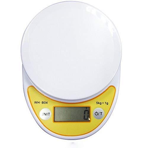 Ctiulicfc Balanza Digital portátil, LED de Cocina electrónica Escalas de Alta precisión Escala del alimento Digital báscula de Peso. (Color : 5kg Without Bowl)
