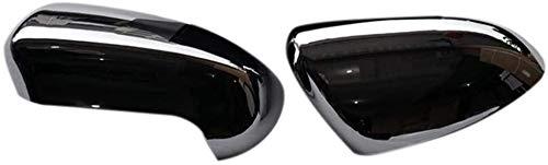 FSWL Abs Rückseitentür Spiegel Ersatz 2Pcs Abdeckung Trim Car Styling Außenspiegel Kappen for Nissan Qashqai J10 2007 2008 2009 2010 2011 2012 2013 804 (Color : Silver)