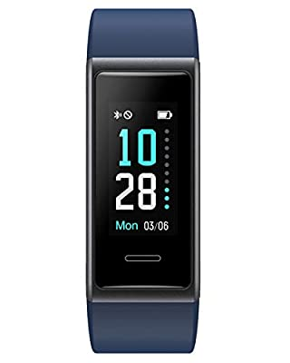 Willful Fitness Tracker 2020 New Version IP68 Waterproof, Fitness Watch Heart Rate Monitor with Calories/Step Counter Sleep Tracker Stopwatch Health Tracker Fit Watch for Men Women Kids (Blue)