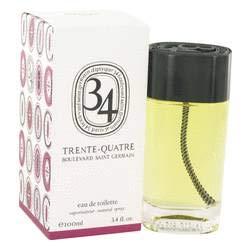 34 Boulevard Saint Germain Eau de Toilette Spray (Unisex) by Diptyque – 3,4 oz