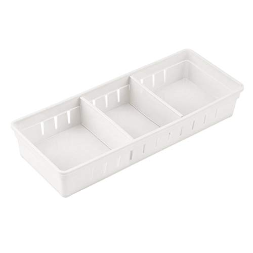 Caja de Almacenamiento de Cubiertos Bandeja para Cubiertos Ajustable Robusto Protecci/ón del Medio Ambiente Durable Compartimiento m/últiple Cocina Oficina Dormitorio Ba/ño