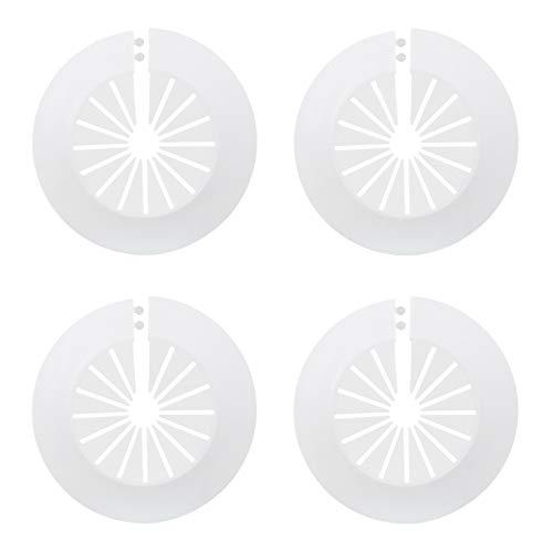 4 piezas Embellecedor tuberia radiador, Abrazaderas de tubería de collar de tubería de calefacción radiador de agua para decoración de tubería de 15 mm / 0,6 pulgadas diámetro ( Size : 90-114 white )
