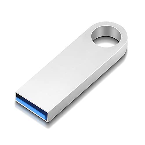 64 GB USB 3.0 Unidad Flash USB, Metal Memoria USB Almacenamiento de Datos, Memoria USB con Llavero para Computadora Portátil