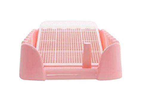 Ding&ng hond toilet, huisdier toilet, kleine urinoir wastafel, spoelbare toiletpot, huisdier benodigdheden-Pink_40*40 * 14cm
