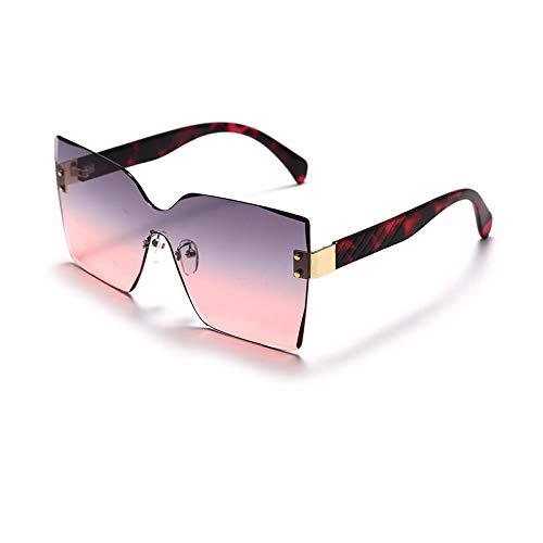 Gafas de sol cuadradas sin montura con degradado de una pieza para hombres y mujeres Gafas de sol vintage Uv400 5