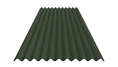 Bitumenwellplatten Set (grün)
