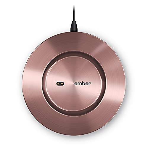 New Ember Temperature Control Smart Mug 2 Charging Coaster, Rose Gold - Improved Design
