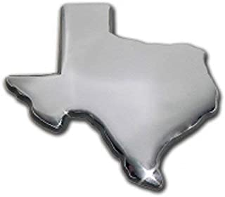 Texas Shape Lone Star State Flag Chrome Auto Emblem