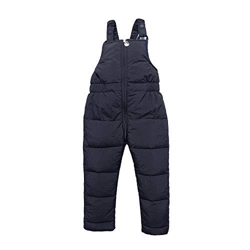 Tonsee Kinder Winter Overall mit Daunen Kleinkind Jungen Mädchen Schneehose Latzhose Strampler Rompers Herbst Winter Warm Dicker Mantel Coat Outfit 1-9 Jahre (110, Schwarz)