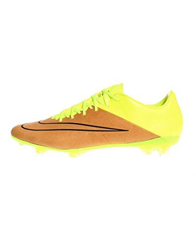 Nike Mercurial Vapor X Tech Craft FG Soccer Cleat (Canvas/Black-Volt Toile/Volt/Noir, 8)
