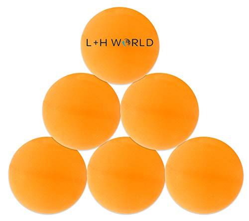 6X Tischtennisball im Set | Premium Tischtennis-Bälle orange farbig | Tischtennis Ball 40mm ideal für Tischtennis oder Bier-Pong | Profi Bälle ideal für Kinder & Erwachsene für Indoor & Outdoor