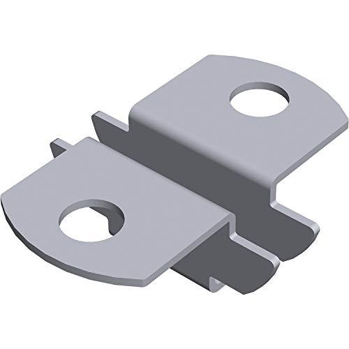 Element-System 11611-00000 insteekhouder voor U-dragers plankdragers / 2-zijdig/oplegger voor houten en glazen vloeren/planksysteem, zilver