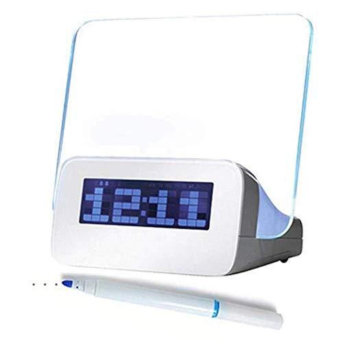 LED LUMINOUS HABITACIÓN DE MENSAJE DE MENSAJE Reloj despertador con calendario, relojes de escritorio para el hogar al por mayor 2018 LUMINOVA LED Digital Reloj de alarma ajustable, mesita de noche, e