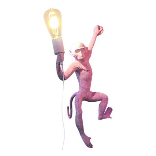 Persoonlijke wandlamp, creatief, dier, wind, industrieel, restaurant, balkon, kinderkamer, snoer, aap, wandlamp, leeslamp.