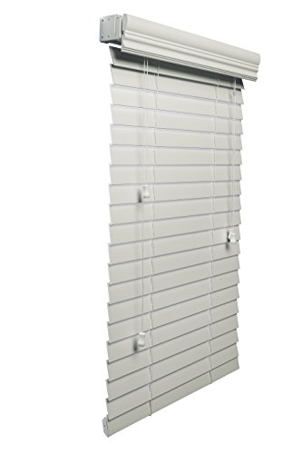 Lotus & Windoware 2-Inch Faux Wood Blind, 34 by 60-Inch, White