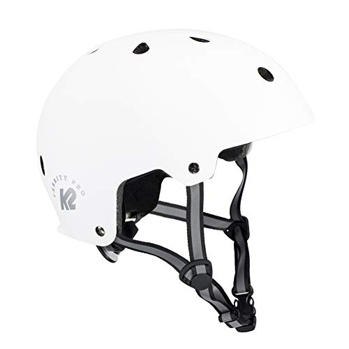 K2 Damen Herren Inline Skates Helm VARSITY PRO - Weiß - L (59-61cm) - 30D4110.1.1.L