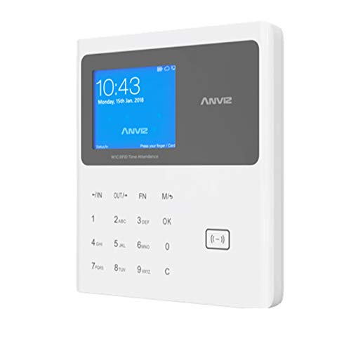 Anviz W1C Pro RFID (EM Karten) Zeiterfassungsgerät inkl. Profi Software Basic für 20 MA