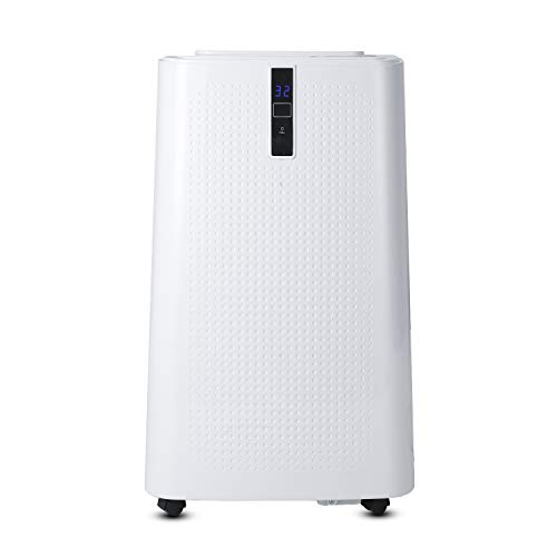 Hengda WiFi Klimaanlage mit Fensterdichtung,Mobiles Klimagerät 4 in 1,Heizen,Kühlen,Luftentfeuchter,lüften,12000BTU/h(3.5kW),Klima mit Nachtmodus,für Räume bis 60 ㎡